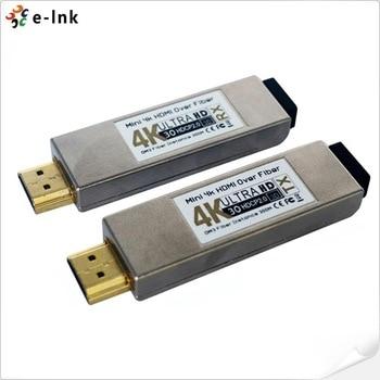 Mini 4K HDMI Over Optical Fiber Transceiver UHD HDMI Video to Fiber Converter 4K HDMI Fiber Optic Extender with USB Power Input