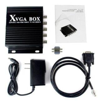 XVGA Box MDA CGA EGA RGB RGB Sog RGBS RGBHV YPbP YUV to VGA Converter Industrial Video Converter with US/EU/UK ,HAVE IN STOCK
