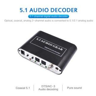 5.1 Digital Audio Sound Decoder DTS AC3 PCM Audio Equipment LPCM Digital Audio Converter To 5.1 Analog Output