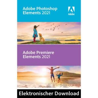 Adobe Photoshop & Premiere Elements 2021 Jahreslizenz, 1 Lizenz Windows, Mac Bildbearbeitung
