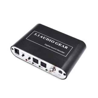 Digital Audio Sound Decoder 5.1 Audio Gear DTS AC3 PCM Digital Audio Converter LPCM To 5.1 Analog Output Sound Decoder Amplifier