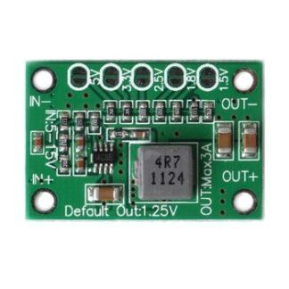 New DC Step Down Power Converter Board 5-16V To 1.25V 1.5V 1.8V 2.5V 3.3V 5V 3A