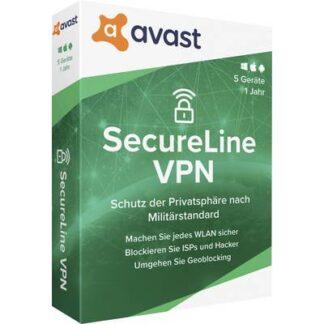 avast SecureLine VPN - 2020 (Multi-Device) Vollversion, 5 Lizenzen Windows, Mac, Android, iOS Sicherheits-Software