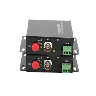 1 CH Video Fiber Optical Media Converters -1 BNC Transmitter Receiver RS485 Data Single mode 20Km For CCTV Surveillance system