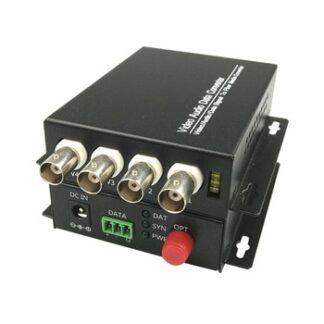 4 CH Video Fiber Optical Media Converters -4 BNC Transmitter Receiver Single mode 20Km For CCTV Surveillance system