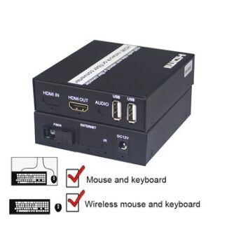 HDMI to fiber optic converter 1080P HDMI Fiber Optic Video Extender KVM(HDMI USB) to Fiber Mouse and keyboard HDMI IR extender