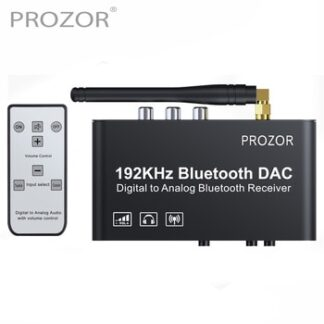 PROZOR 192kHz Digital to Analog Converter with Remote Control Bluetooth DAC Digital Coaxial Toslink to Analog Stereo L/R RCA