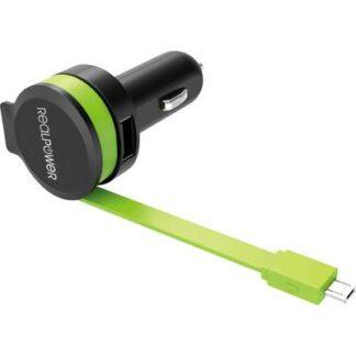 RealPower 257635 USB-Ladestation KFZ Ausgangsstrom (max.) 2400 mA 2 x USB