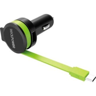 RealPower 257636 USB-Ladegerät KFZ Ausgangsstrom (max.) 2400 mA 2 x USB