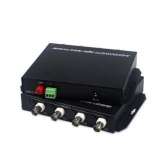 1080P HD video AHD CVI TVI Fiber optical converter, 4-CH HD Video with RS485 1080p cvi ahd fiber optic to coaxial converter