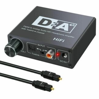 192KHz Digital Coaxial to Analog R/L RCA 3.5mm Jack HiFi Audio Converter Adapter