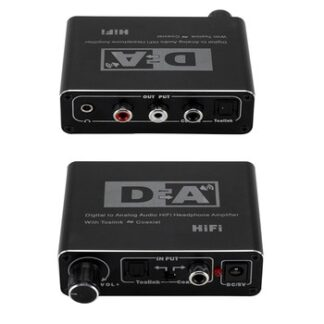 192kHz Digital 3.5mm Optical Coaxial Toslink To Analog Audio RCA L/R Coaxial HiFi PCM/LPCM Amplifier Adapter Audio Converter