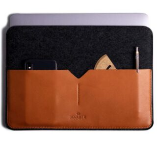 Black Edition - Leather MacBook Sleeve