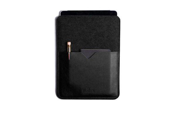 Black Edition - Leather iPad and Kindle Case Sleeve