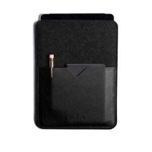 Black Edition - Leather iPad and Kindle Case Sleeve