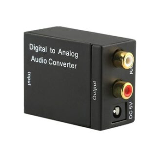 Digital to Analog Audio Converter Coaxial or Toslink Digital Audio to Analog L/R Audio Converter Adapter Digital Optical Adapter