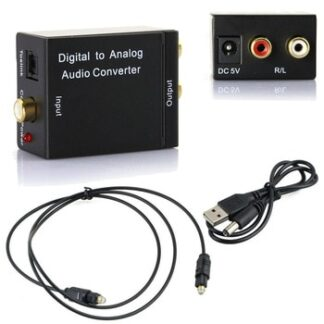 Digital to Analog Audio Converter Digital Optical CoaxCoaxialToslink to Analog RCA L/R Audio Converter Adapter Amplifier