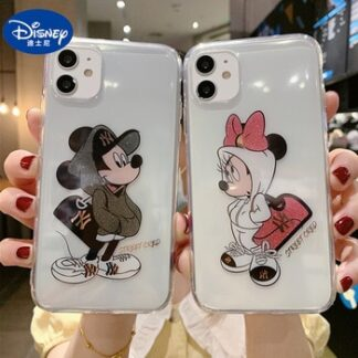 Disney Mobile Phone Cases for IPhone X/XS/XR/XS Max 7/8/ Plus/ 12/12pro Mickey Minnie Phone Case Cartoons Accessories Covers