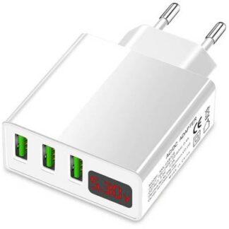 Eaxus USB-Charger Handy Ladegerät mit Schnellladefunktion USB Weiß