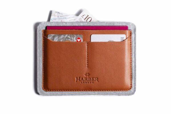 Flat Leather Passport Holder