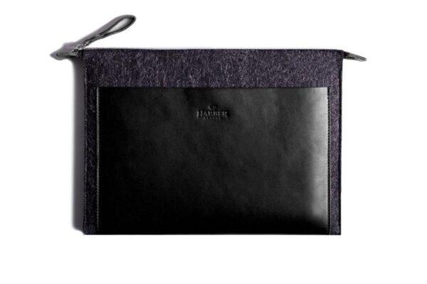 Folio Macbook Leather & Felt Sleeve