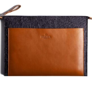 Folio Macbook Leather & Felt Sleeve
