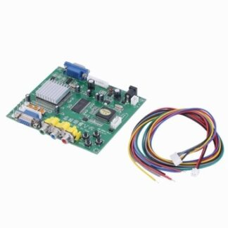 GBS8200 RCA to VGA HD Video Converter Board Plate HD9800 HD-Converter Board Advanced Video Decoding Device with Wire
