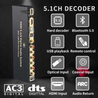 HD815BT HDMI 5.1 Audio Converter Decoder DAC DTS AC3 FLAC APE 4K*2K HDMI to HDMI Extractor Converter Splitter Digital SPDIF ARC