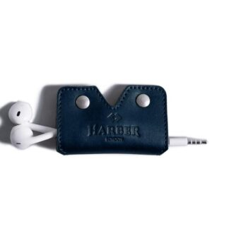 Leather Earphone Cord Wrap Case