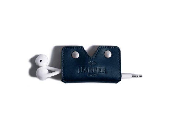 Leather Earphone Cord Wrap Case