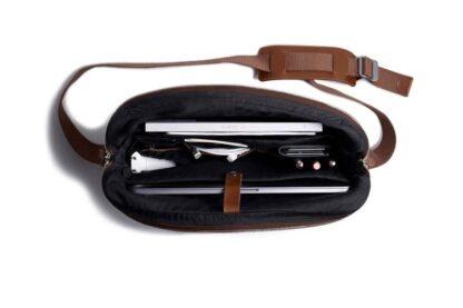 Leather Messenger Bag for MacBook