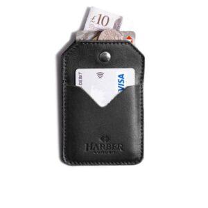 Leather Snap Card Holder 2 pockets