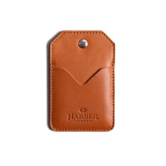 Leather Snap Card Holder 2 pockets