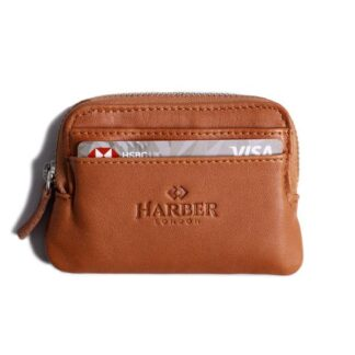 Leather Zip Pouch Wallet