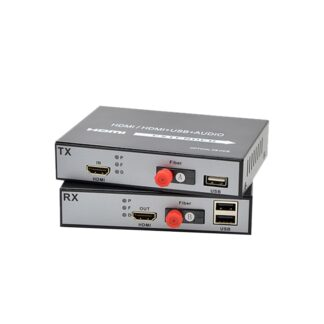 1080P HDMI to fiber optic converter Fiber Optic Video Extender KVM(HDMI+USB) To Fiber Mouse and keyboard compressed