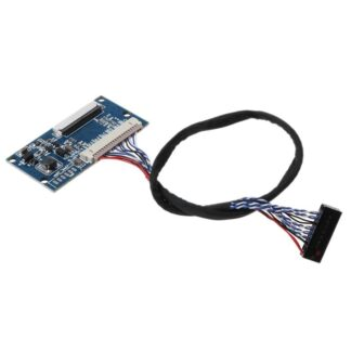 1Set LVDS 1ch 20Pin to 40Pin TTL Signal LCD Driver Board Converter Board for 7-10.1 inch 1024x768 LCD Panel with Cable
