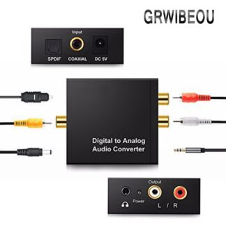 3.5MM Jack DAC Digital to Analog Audio Converter Decoder Optical Fiber Coaxial Stereo Audio Adapter To RCA Amplifiers USB Cable