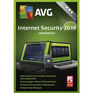 AVG Internet Security 2019 Vollversion, unbegrenzte Geräteanzahl Windows, Mac, Android Sicherheits-Software