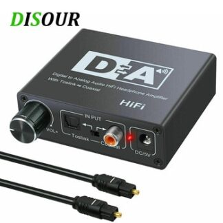 HIFI DAC Amp Digital To Analog Audio Converter Decoder 3.5mm AUX RCA Amplifier Adapter Toslink Optical Coaxial Output DAC 24bit