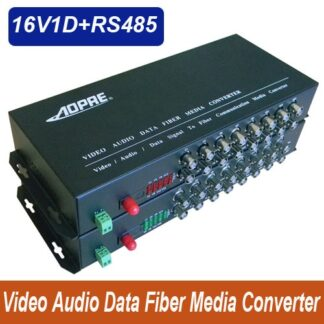 High quality 16 channel video data Audio fiber optic media converter with RS485 - up 20KM Singlemode