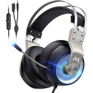 Mipow EG3 Pro Gaming Headset 3.5 mm Klinke, USB schnurgebunden, Stereo Over Ear Schwarz