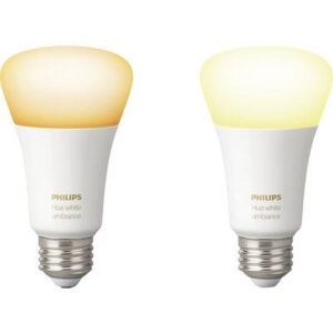 Philips Lighting Hue LED-Leuchtmittel (2er-Set) 8718696729083 EEK: A+ (A++ - E) White ambiance E27 9.5 W
