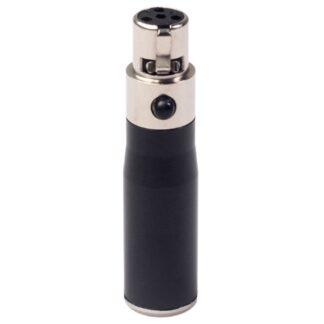 XLR Mini 3 Pin Male to 4 Pin Female o Adapter Plug Connector Hi-Fi Signal Converter Adapter for Microphone Speaker