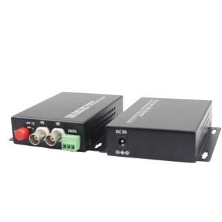 1 Pair 2 Channels fiber converter Fiber Digital monitoring Video/Audio with 1 Channels 485 reverse data single fiber