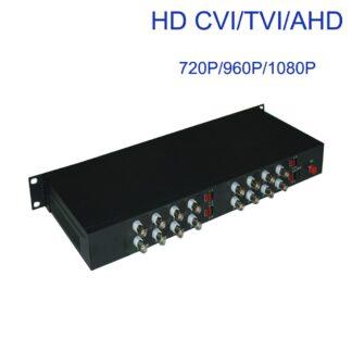 1080P HD CVI AHD TVI 16 CH Video Fiber Optic Optical Media Converters - for 1080p 960p 720p AHD CVI TVI Coax. HD Cameras CCTV