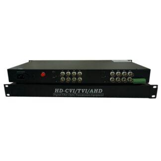 16Channel 1080P Singlemode Single fiber 20km FC AHD HDCVI HDTVI Fiber Transmitter and Receiver Fiber Video Converter