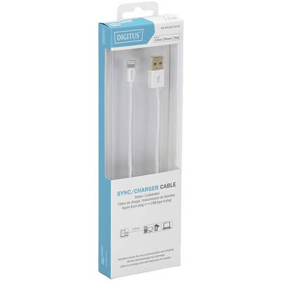 Digitus iPad/iPad Pro/iPhone/iPod Datenkabel/Ladekabel [1x USB, USB 2.0 Stecker A - 1x Apple Lightning-Stecker] 1.00 m