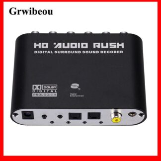 GRWIBEOU Digital to Analog 5.1 channel Stereo AC3 Audio Converter Optical SPDIF Coaxial AUX to 6 RCA Sound Decoder Amplifier