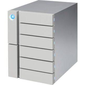LaCie 6big 96 TB Externes Multi-Festplatten-System Thunderbolt 3, USB 3.2 Gen 2 (USB 3.1) Silber STFK96000400