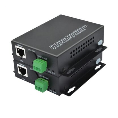 One Pair Ethernet Extender over twisted converter 2KM for IP cameras IP video transmitter over twisted
